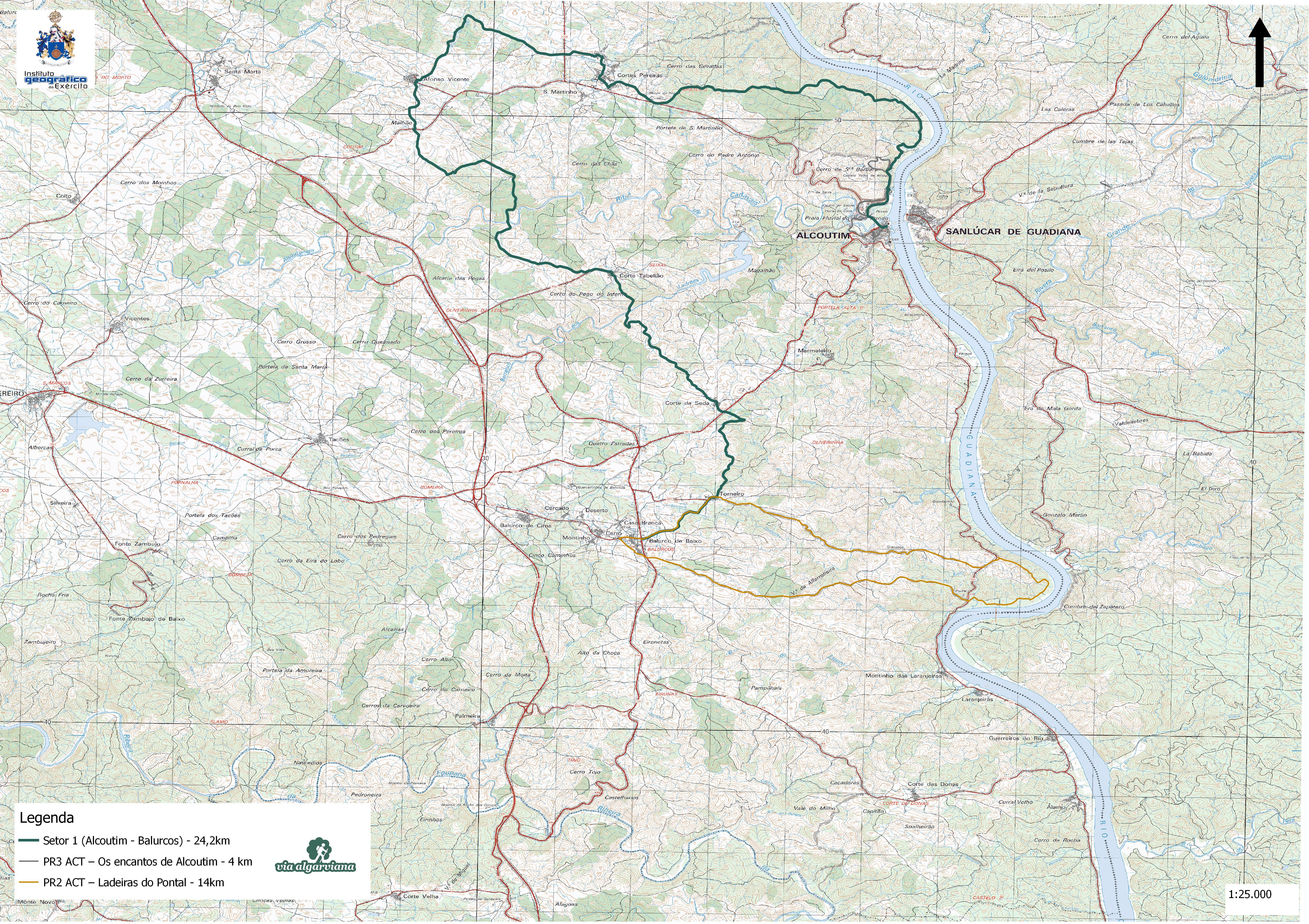 Via Algarviana Mapa Setor 1 Alcoutim A Balurcos Walking