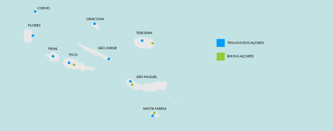 Mapa Açores