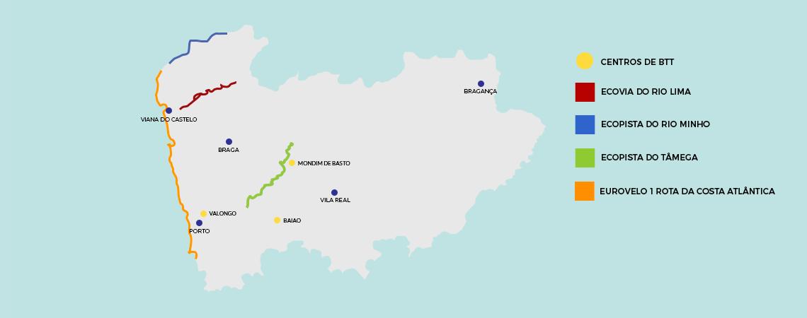 Mapa Porto e Norte